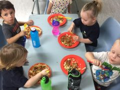 Learning table manners and skills
