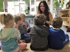 Yoga Instructor Paula at Parkside Early Learning Centre